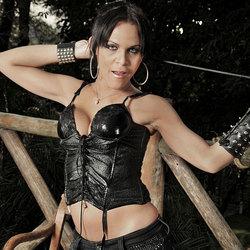 Kinky tranny dommes destroy a slave