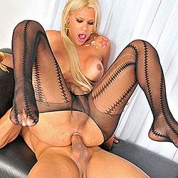 Busty blonde tranny sex with rafaella ferrari.